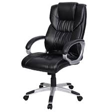 Black Leather Office Chair Comfortable Ergonomic Executive Leather Office Chair Ergonomic