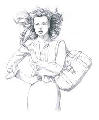 sketching woman with bag by bluecat amber on deviantart