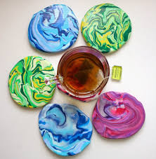 marbled clay coasters the surznick common room