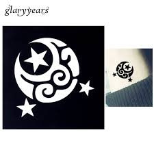 2018 1pc moon flower design small henna indian stencil