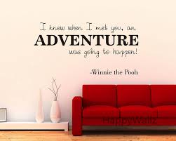modern love winnie the pooh love quote wall sticker adventure lettering quote