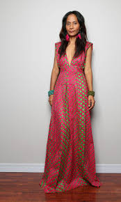 maxi dress funky polka dot dress oriental secrets by nuichan