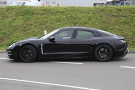 first porsche porsche mission e first spy shots