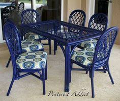 Colorful Patio Furniture Yellow Door Blue House Luchador Welcome - Colorful patio furniture