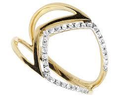 diamond cocktail rings women s 10k yellow gold one row pave genuine diamond cocktail ring