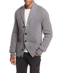 tom ford sweater tom ford iconic shawl collar cardigan light gray neiman