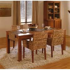 Woven Dining Room Chairs Banana Abaca Dining Chair Armrest Mahogany Table Woven Indoor