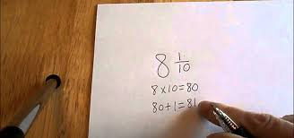 how to convert a mixed number to an improper fraction tutorial