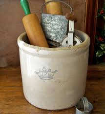 antique stoneware crock for great kitchen storage crocks pottery