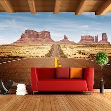 aliexpress com buy free shipping 3d wallpaper desert highway