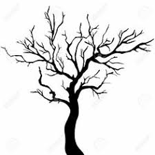 coloring pages leafless tree outline halloween trees coloring