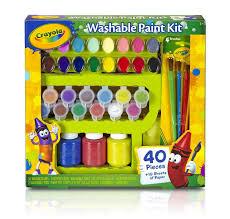 crayola washable kid u0027s paint kit 40pc amazon co uk toys u0026 games
