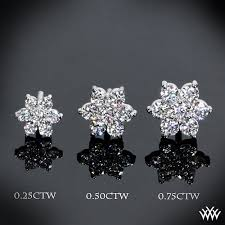 diamond earrings flower cluster diamond earrings ready set to go 875