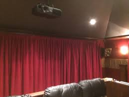 20 Ft Curtains Home Theater Velvet Curtain Panel Used To Cover A 20 Ft Wide