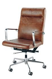 Comfortable Desk Chair With Wheels Design Ideas Brown Leather And Metal Office Chair On Wheels Home