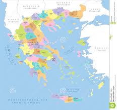 greece map political highly detailed political map of greece vector stock vector