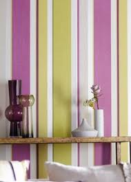 Purple Interior Design by Vertical Striped Painted Walls With Orange Google Search
