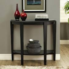 Black Entryway Table Image Entryway Tables Black Sofa Table With Shelves Storage Wood