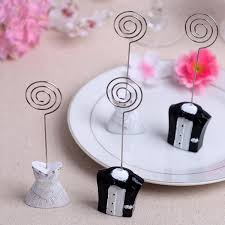 Table Card Holders by 1 Pair Bride Groom Couple Wedding Place Card Name Holder Table