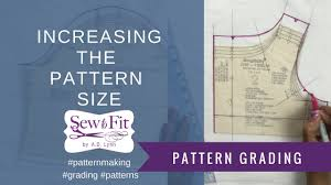 pattern grading for beginners grading up a fashion pattern to a larger size youtube