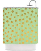Mint Shower Curtain Sweet Deal On Scattered Glitter Dots In Mint Green Pistachio