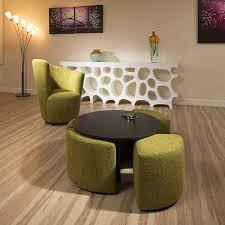 round coffee table with 4 stools modern black round coffee table with 4 green cushioned stools new