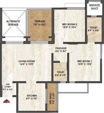 975 sq ft 2 bhk floor plan image rama group melange residences