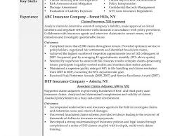 insurance cv examples claims adjuster resume free entry level insurance claims adjuster