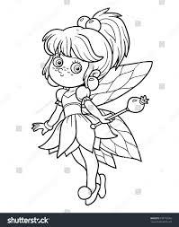 coloring book children little fairy stock vector 333772562