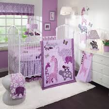 lambs and ivy lavender jungle baby bedding collection baby