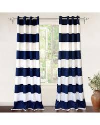 Navy Window Curtains Great Deal On Driftaway Stripe Room Darkening Window Curtains