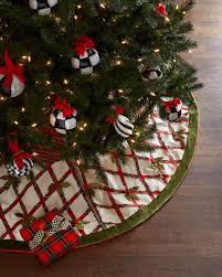 mackenzie childs tartan yuletide tree skirt