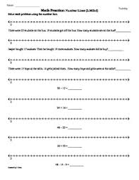 2 md 6 number lines 2nd grade common core math worksheets 1st