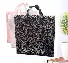 43x51cm large plastic lace packing bag with handle large gift bag