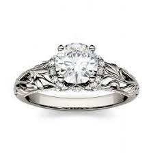 moissanite vintage engagement rings moissanite vintage engagement rings charles colvard
