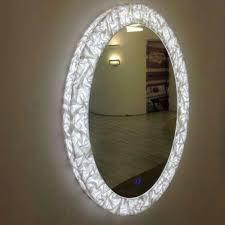 4 led lights mirror circle round led mirror light shree divya impex manufacturer in