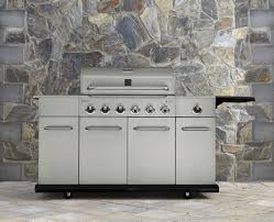kenmore 6 burner stainless steel front gas grill with storage