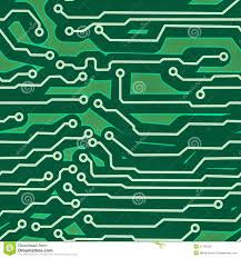 hi tech background computer system board stock vector image