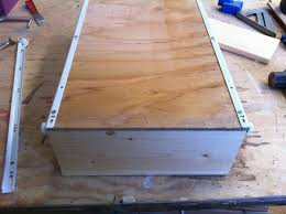 How To Fix Cabinet Drawer Slides Ana White Wood Pullout Cabinet Drawer Organizer Diy Projects