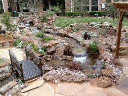Backyard Waterfall Ideas by Water Garden And Patio Since It U0027s Impossible To Grow Grass In
