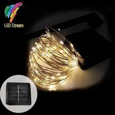 solar power led lights 100 bulb string solar power string light 10m 100 led copper wire string fairy light
