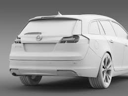 opel insignia sports tourer 2013 by creator 3d 3docean