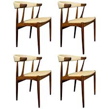 Modern Leather Dining Chairs Four Johannes Andersen Danish Modern Rosewood And Leather Dining