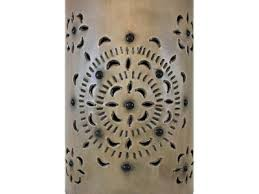 Tin Wall Sconce Mexican Tin Lighting Collection Flores Wall Sconce Lamw05 Mexican