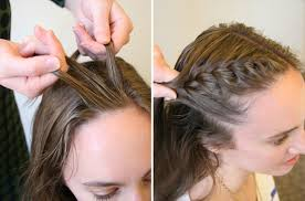 how to braid short hair step by step how to do a side french braid popsugar beauty