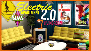 the sims 3 electric apartment 2 0 livingroom youtube