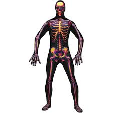 Skeleton Halloween Costume by Radioactive Skeleton Halloween Costume Walmart Com