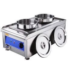 dual countertop electric buffet food warmer w 2x 7 qt pots
