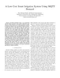 a low cost smart irrigation system using mqtt protocol pdf