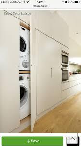 hide away washing machine in cupboard green energy utility